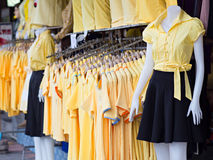 Yellow shirts for the King's Birthday Royalty Free Stock Photo
