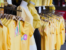 Yellow shirts for the King's Birthday Stock Images
