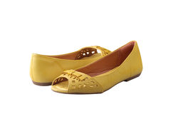 Yellow shoes Royalty Free Stock Photo