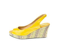 Yellow shoes, Platform Royalty Free Stock Photography