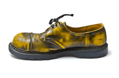 Yellow shoes. On a white background Stock Images