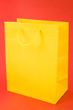 Yellow Shopping Bag Stock Photo