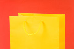 Yellow Shopping Bag Stock Photography