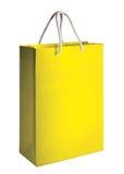 Yellow shopping bag. On white background Stock Photos