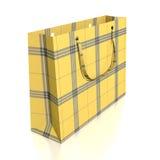 Yellow Shopping Bag Royalty Free Stock Photo