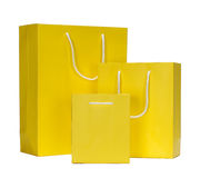 Yellow Shopping Bag gift bag Royalty Free Stock Photo