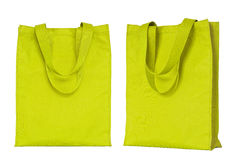 Yellow shopping bag isolated on white Royalty Free Stock Photo