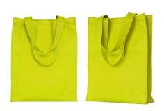 Yellow shopping bag isolated on white Royalty Free Stock Photo