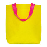Yellow shopping bag isolated on white Royalty Free Stock Image