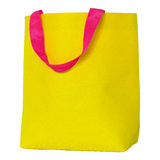Yellow shopping bag isolated on white Stock Image