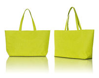 Yellow shopping bag Stock Photo