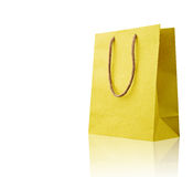 Yellow shopping bag. Royalty Free Stock Photography