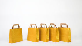 Yellow shopping bags Royalty Free Stock Photos