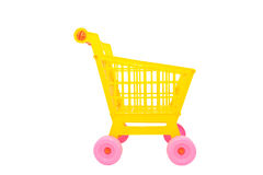Yellow shopping cart Stock Photo