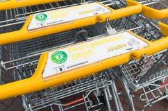 Free Yellow Shopping Carts Royalty Free Stock Photo - 64190035