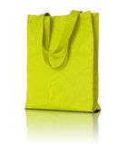 Yellow shopping fabric bag Royalty Free Stock Images