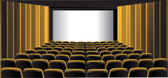 Yellow showing room; cinema Royalty Free Stock Images