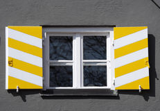 Yellow shutters Royalty Free Stock Photography