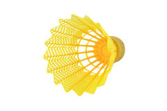 Yellow Shuttlecock. Stock Image