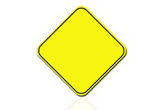 Yellow sign Royalty Free Stock Photos