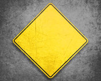 Yellow Sign Royalty Free Stock Image