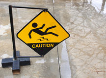 Yellow sign alerts Stock Image