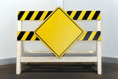 Yellow sign blank Royalty Free Stock Photos