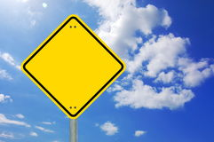 Yellow sign blank and empty Royalty Free Stock Photo