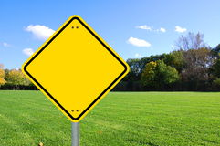 Yellow sign blank and empty Royalty Free Stock Image