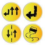 Yellow signals Royalty Free Stock Photo