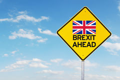 Yellow signpost of brexit Royalty Free Stock Photos