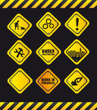 Yellow signs Royalty Free Stock Images