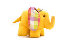 Yellow silk elephant toy Royalty Free Stock Photo