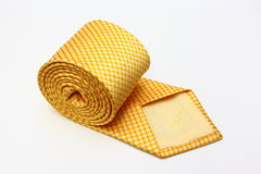 Yellow Silk Tie Stock Photo