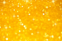 Yellow Silver Background With Stars Stock Photography
