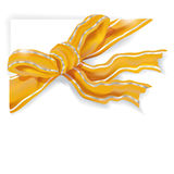 Yellow and silver ribbon Stock Photos