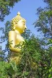 Yellow sitting Budha image Stock Photos