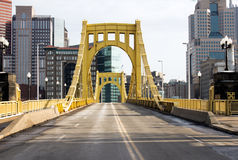 Yellow Sixth Street Bridge Royalty Free Stock Photography