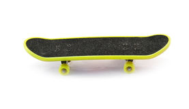 Yellow skateboard Stock Photo