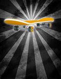 Yellow skateboard on abstract background Stock Image