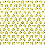 Yellow sketchy stars. Stock Photos