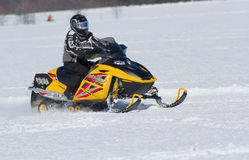 Yellow Ski-Doo Stock Photo