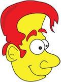 Yellow Skinned Funny Man Cartoon Illustration Stock Image