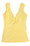 Yellow Sleeveles Shirt Royalty Free Stock Images