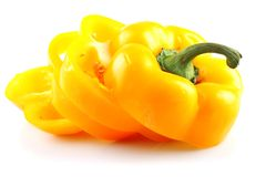 Yellow slices pepper Stock Image