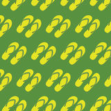 Yellow slippers seamless pattern Royalty Free Stock Photos