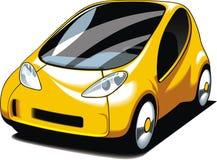 Yellow small car design Stock Photos