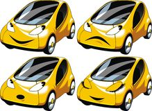 Yellow small car design Royalty Free Stock Images