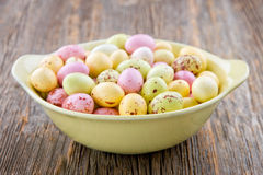 Small yellow easter eggs Stock Photography