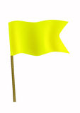 Yellow small flag Stock Images